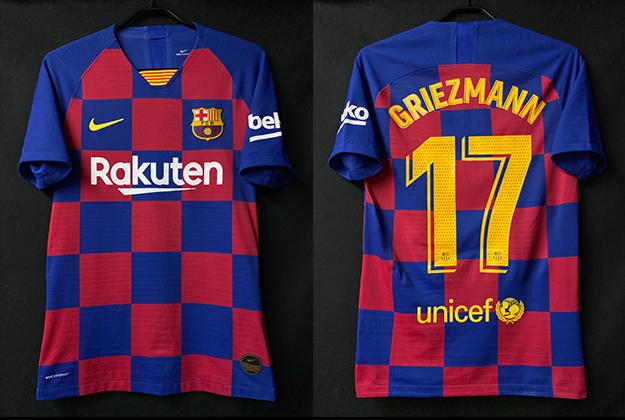 2019-20シーズンのグリーズマンのバルセロナホームユニフォーム
