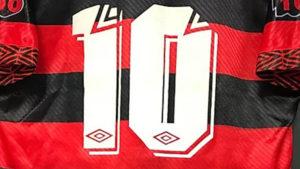 1994-95フラメンゴ100周年シーズンユニフォーム背面ナンバー詳細