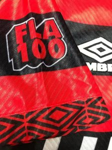 1994-95フラメンゴ100周年シーズンユニフォーム袖詳細