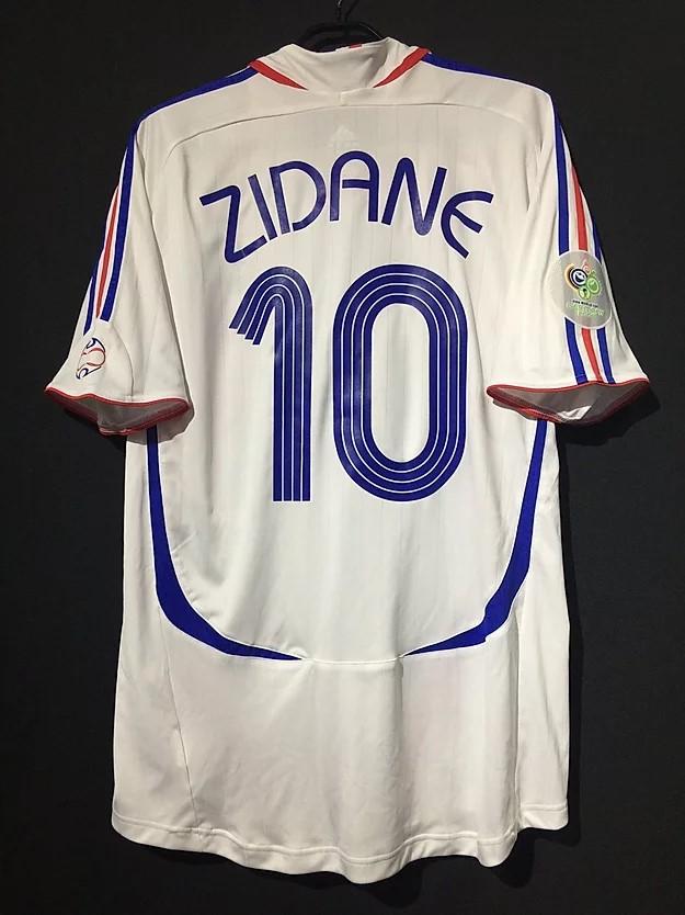 ジダン2006フランス代表アウェイユニフォーム
