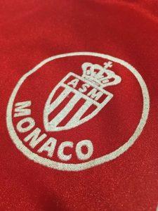 ASモナコの1982-83ホームユニフォームチームロゴ