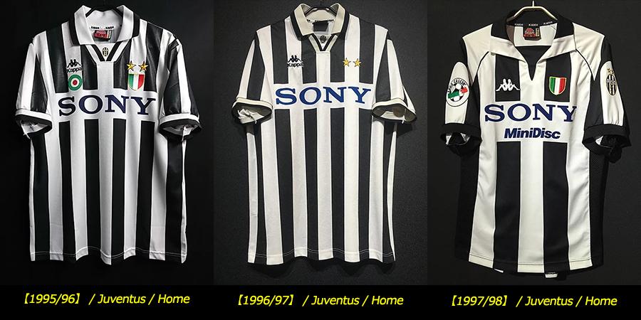 1995-98ユベントスsonyロゴユニフォーム