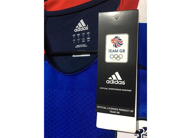2012年ロンドンオリンピックのイギリス代表ユニフォームタグ
