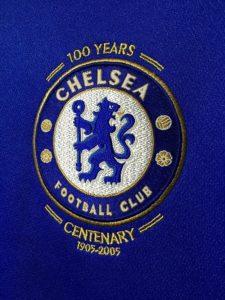 2005/06チェルシー100周年ホームユニフォームチームエンブレム