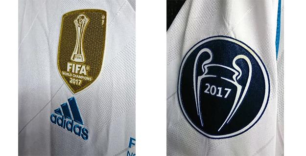 クリスティアーノ・ロナウドの2018年チャンピオンズリーグの決勝仕様のレアルマドリードのユニフォームパッチ各種