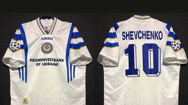 シェフチェンコの1997/98ディナモキエフのチャンピオンズリーグホームユニフォーム