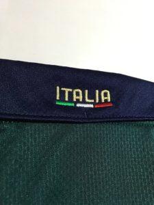 2019年イタリア代表3rdユニフォームの襟
