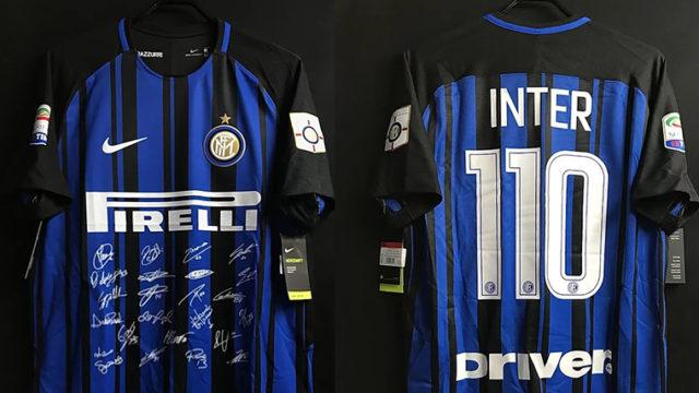インテル・ミラノのクラブ創立110周年記念ユニフォーム