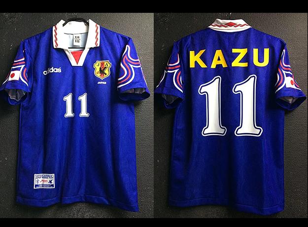 1997年日本代表の三浦知良のユニフォーム