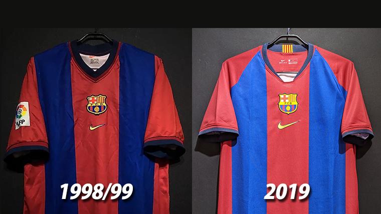 2019FCバルセロナのナイキスペシャルエディション1998-99