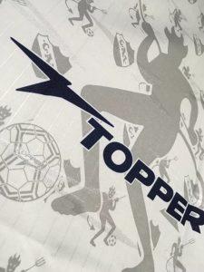 1998-99インデペンディエンテのアウェイユニフォームのTopper社ロゴ