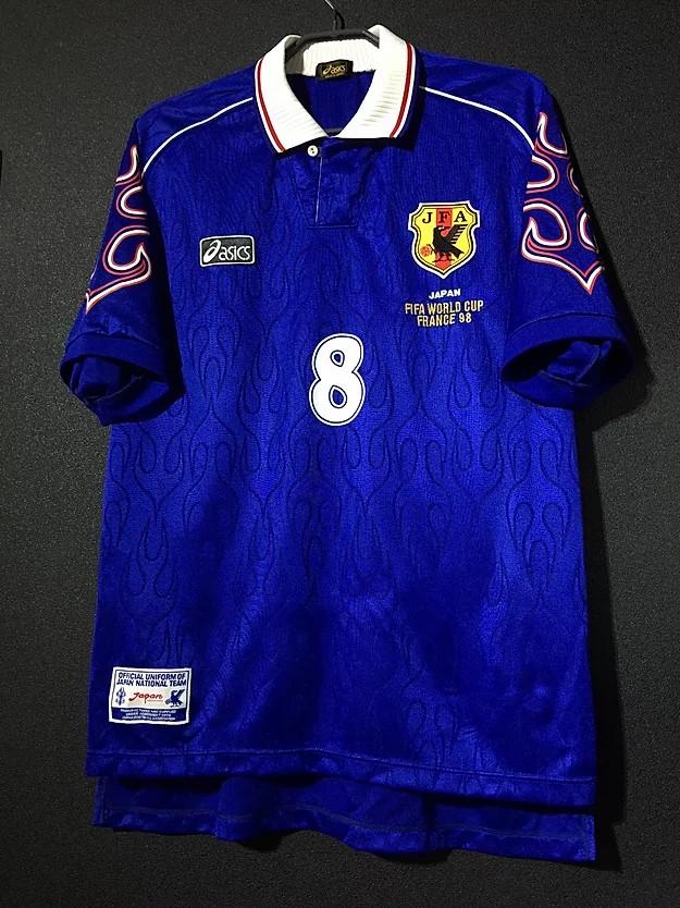 中田英寿の1998ワールドカップフランス大会の日本代表のユニフォーム