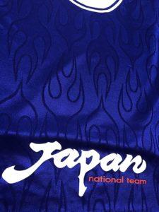 1998ワールドカップフランス大会の日本代表のユニフォームの背面アップ
