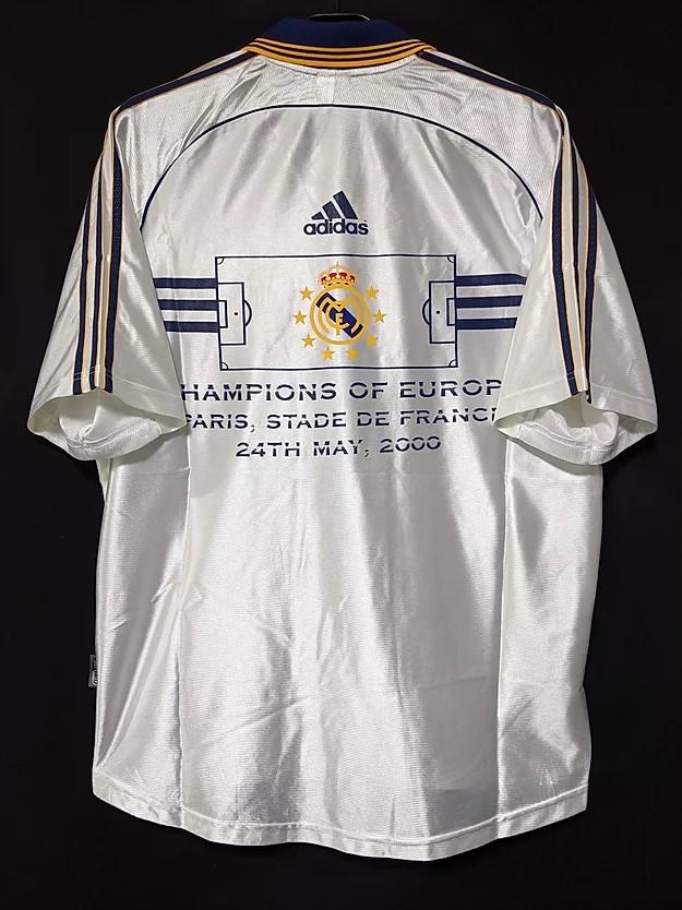 2000年レアルマドリードのチャンピオンズリーグ優勝記念ユニフォーム