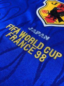 1998ワールドカップフランス大会の日本代表のユニフォームの刺繍