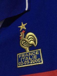 ユーロ2000フランス代表ジダンの決勝仕様ユニフォームのエンブレム