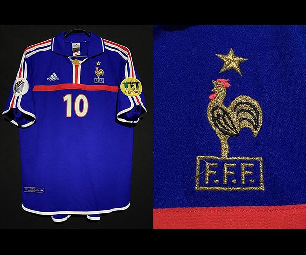 ユーロ2000フランス代表ジダンのユニフォーム