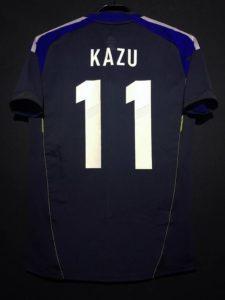 三浦知良選手の2012年フットサル日本代表ホームユニフォームの背面