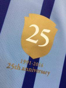 2016年ジェフユナイテッド千葉の25周年記念ユニフォームのロゴ