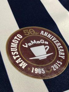 松本山雅50周年記念ユニフォームのエンブレム