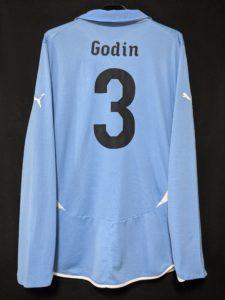 2010-11ウルグアイ代表のゴディンの選手用ユニフォーム