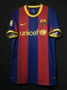 バルセロナ2010-11ホームユニフォーム
